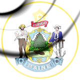 State Seal of Maine, USA. Royalty Free Stock Image