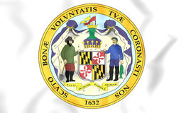State Seal of Maryland, USA. Stock Photo
