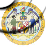 State Seal of Maryland, USA. Stock Images