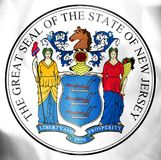State Seal of New Jersey, USA. stock illustration