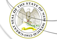 State Seal of New Mexico, USA. 3D Illustration. Royalty Free Stock Image
