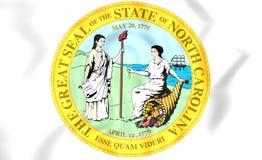 State Seal of North Carolina, USA. Stock Photos