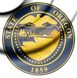 State Seal of Oregon, USA. 3d Rendered State Seal of Oregon, USA Royalty Free Stock Photography