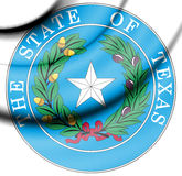 State Seal of Texas, USA. 3d Rendered State Seal of Texas, USA Royalty Free Stock Photo