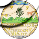 State Seal of Vermont, USA. Royalty Free Stock Images