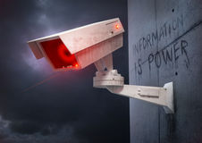 State of Security. A futuristic tracking and identity camera Royalty Free Stock Photography