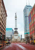 The State Soldiers and Sailors Monument. In Indianapolis, Indiana Stock Image