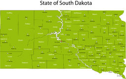 State of South Dakota Stock Images