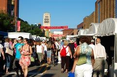 State Street Area Art Fair, Ann Arbor. ANN ARBOR, MI - JULY 21: Crowds enjoy the Ann Arbor State Street Area Art Fair in Ann Arbor, MI. With 325 artists, it is Stock Image