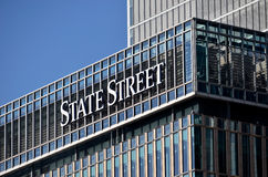 State Street Bank London. London, Canary Wharf: State Street Bank and Trust Company offices building Royalty Free Stock Image