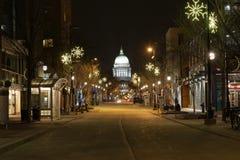 State Street en la noche Fotografía de archivo