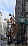 State Street kleidete für die Feiertage an Lizenzfreie Stockbilder