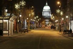 State Street at night Stock Photo