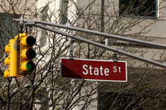 State Street and streetlight Stock Photography