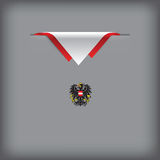 State Symbols of Austria. State symbols and colors of the flag of Austria Vector illustration Stock Photography