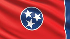State of Tennessee flag. Flags of the states of USA. royalty free stock photography