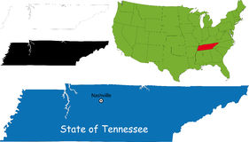 State of Tennessee, USA. Illustration of State of Tennessee, USA Royalty Free Stock Image