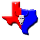 State of Texas Royalty Free Stock Photography