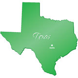 State of Texas. An illustration of the state of Texas Stock Photo