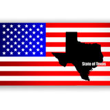 State of Texas. Map of the U.S. state of Texas Royalty Free Stock Photography