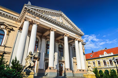 State Theatre of Oradea, Romania stock image