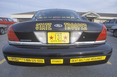 State Trooper car. In  Iowa Royalty Free Stock Images