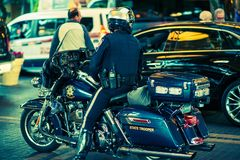 State Trooper on Motorcycle Stock Image