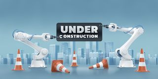 State Of Under Construction Stock Images