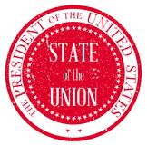 State of the Union Stamp. State of the Union button based upon the presidential seal of the United States of America Royalty Free Stock Photo