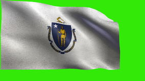 State of America, USA, Flag of Massachusetts LOOP stock video