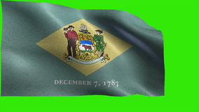 State The United States of America, USA state, Flag of Delaware, DE, Dover, Wilmington, December 7 1787 - LOOP stock footage