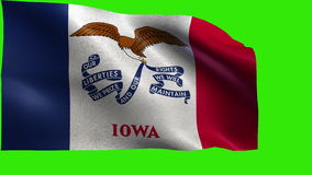 State of The United States of America, USA state, Flag of Iowa, IA, Des Moines, December 28 1846 - LOOP stock video footage