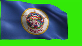 State of The United States of America, USA state, Flag of Minnesota, MN, St. Paul, Minneapolis, May 11 1858 - LOOP stock video