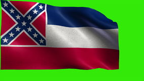 State of The United States of America, USA state, Flag of Mississippi, Missisipi, MS Jackson, December 10 1817 - LOOP stock footage