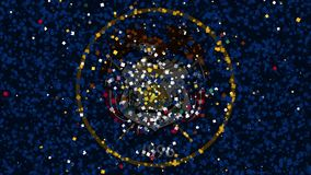 State of Utah celebration confetti. Flag of Utah, spirited celebratory fireworks from flat confetti particles stock video