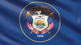 State of Utah flag. Flags of the states of USA. vector illustration
