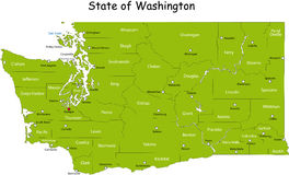 State of Washington Royalty Free Stock Images