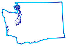 State of Washington Outline. Illustration of the outline of the state of Washington in northeastern United States...other state outlines also in my portfolio vector illustration