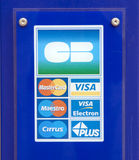 Stated payment options with credit card Stock Image