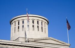 statehouse Огайо куполка стоковое изображение rf