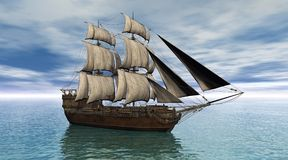 statek żeglując royalty ilustracja