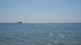 Statek żegluje na horyzoncie zbiory wideo