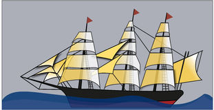 Statek Obraz Stock