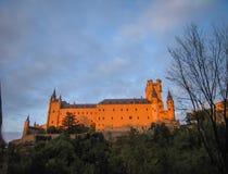 Statek, Alcazar, Segovia, Hiszpania Obrazy Stock
