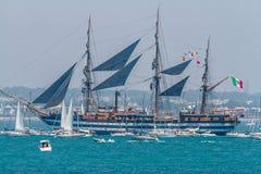 Statek Amerigo Vespucci Zdjęcia Stock