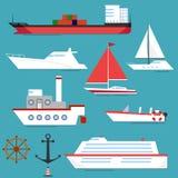 Statek, barka, jacht, łódź ilustracja wektor