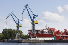 Statek budowa W stoczni, Niemcy Zdjęcie Stock