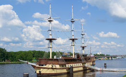 Statek flagowy Fotografia Royalty Free