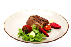 statek grillowany stek mięsa Obrazy Stock
