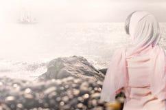 Statek i dziewczyna Fotografia Stock